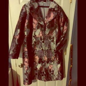Floral tapestry coat